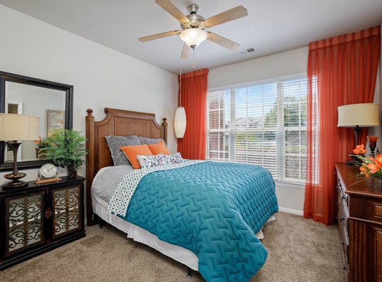 Master Bedroom Feels Large and Spacious with Impressive 9 Foot Ceilings and Large Walk-In Closets at Cambridge Square Apartments, Overland Park, KS 66211