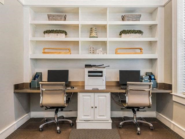 Executive Business Center with Two Computer Stations and Copier with Printer for Residents at Cambridge Square Apartments, Overland Park, KS 66211