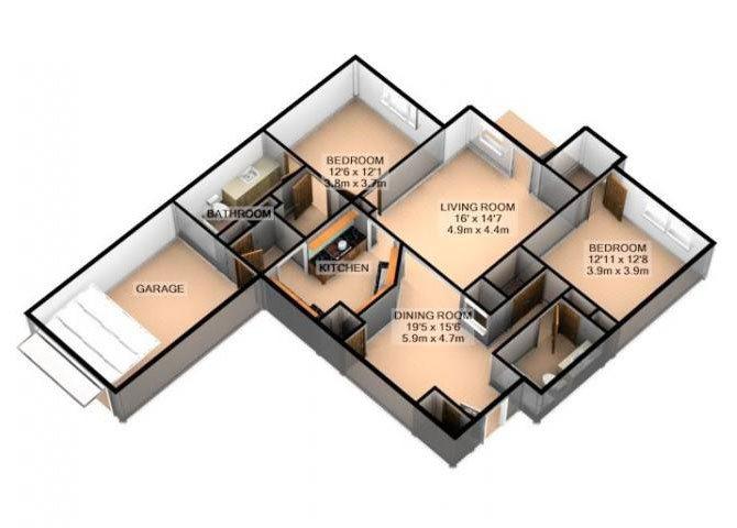 BAY HILL W/ ATTACHED GARAGE Floor Plan 5