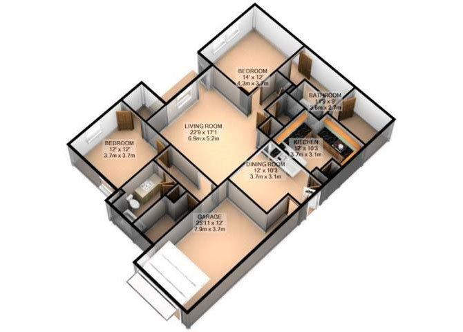 BIRKDALE W/ ATTACHED GARAGE Floor Plan 7