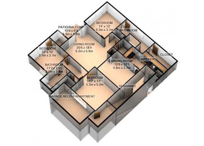 PRESTWICK W/ ATTACHED GARAGE Floor Plan 9
