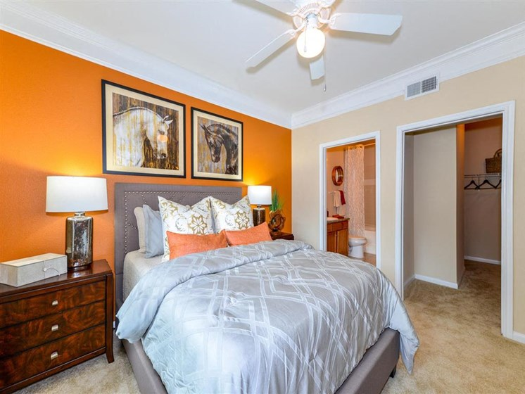Guest Bedroom Feels Large and Spacious Bedrooms with Expansive Closets at Carrington Park At Gulf Pointe, Houston, TX 77089