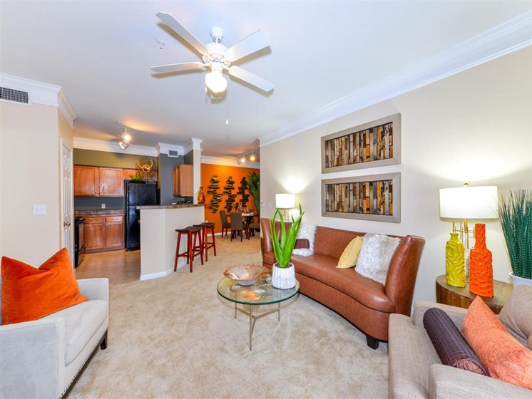 Nice Open Floorplans with Lofty Nine Foot Ceilings and Crown Molding at Carrington Park At Gulf Pointe, Houston, TX 77089