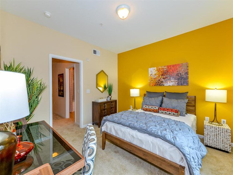 Master Bedroom Feels Large and Spacious with Impressive 9 Foot Ceilings and Large Walk-In Closets at Carrington Park At Gulf Pointe, Houston, TX 77089