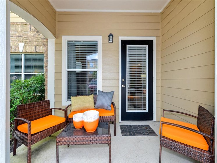 Private Balcony or Patio in Select Units at Carrington Park At Gulf Pointe, Houston, TX 77089