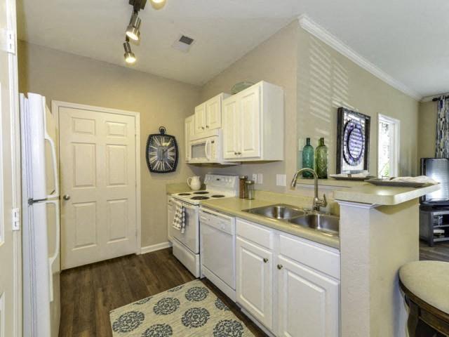 White on White Appliances at Columns at Wakefield, North Carolina, 27614