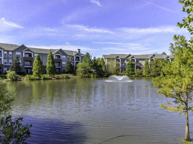 Lake With Lush Natural Surrounding at Columns at Wakefield, Raleigh, NC, 27614