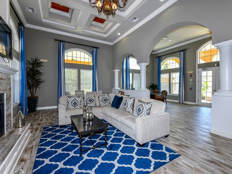 Stunning Modern Design Community Clubhouse with Ample Space and Amenities at Courtney Isles Apartment Homes, Yulee, FL 32097