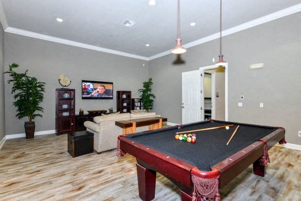 Entertainment Room with Televisions and Billiards at Courtney Isles Apartment Homes, Yulee, FL 32097