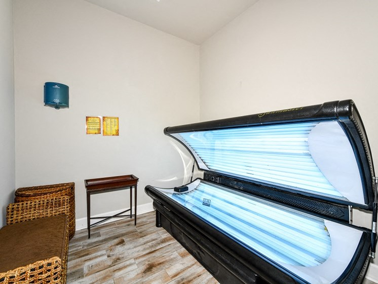 Tanning Salon for Private Resident Use Only at Courtney Isles Apartment Homes, Yulee, FL 32097
