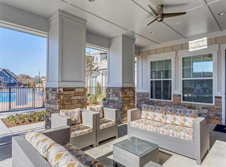 Outdoor Entertainment Spaces with Gas Grills, TV Lounge with Bar Seating at Creekside at Providence Apartments, Mt. Juliet, TN 37122