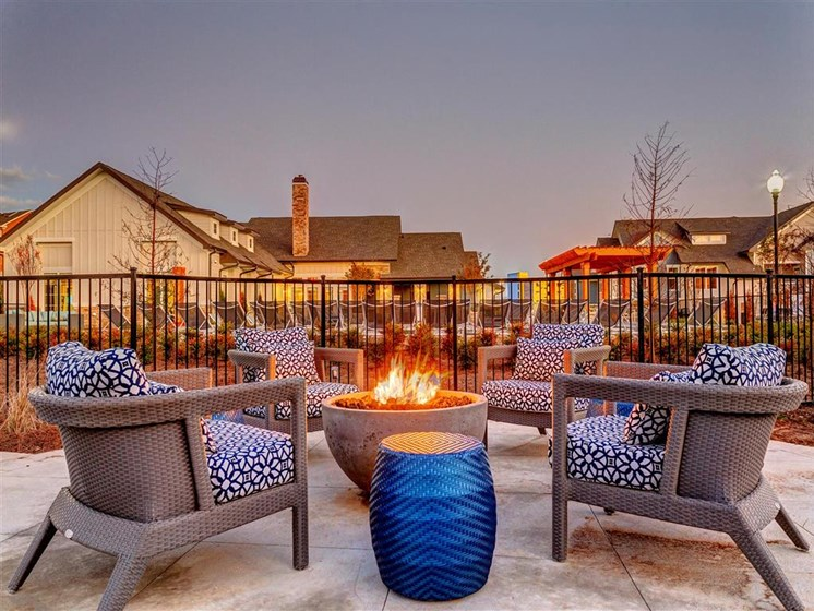 Outdoor Conversational Fire Pit & Lounge Areas at Creekside at Providence Apartments, Mt. Juliet, TN 37122