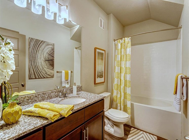 Large Soaking Tub and Shower with Brush Nickel Hardware in bathrooms at Creekside at Providence Apartments, Mt. Juliet, TN 37122