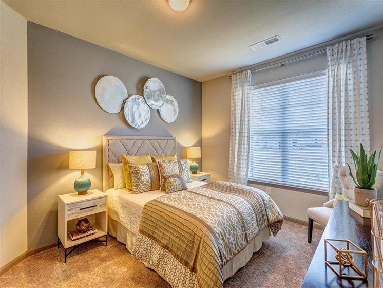Master Bedroom Feels Large and Spacious with Impressive 9 Foot Ceilings and Large Walk-In Closets at Creekside at Providence Apartments, Mt. Juliet, TN 37122