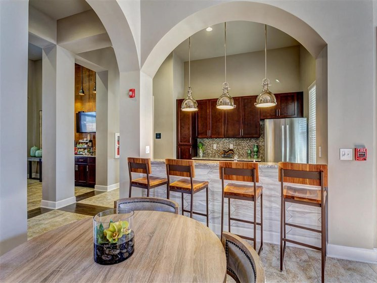 Event Center with Fully Equipped Gourmet Kitchen and Dining Table for Seating up to 6 at Creekside at Providence Apartments, Mt. Juliet, TN 37122