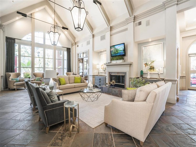 Stunning Modern Design Community Clubhouse with Ample Space and Amenities at Estates at Crossroads, Duluth, GA 30096