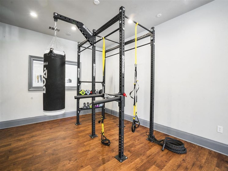 Health and Fitness Club including TVs and Cardio and Weight Training at Estates at Crossroads, Duluth, GA 30096