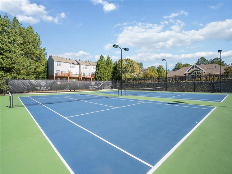 If you love nothing more than a good game of tennis, we have a new Tennis Court at Estates at Crossroads, Duluth, GA 30096