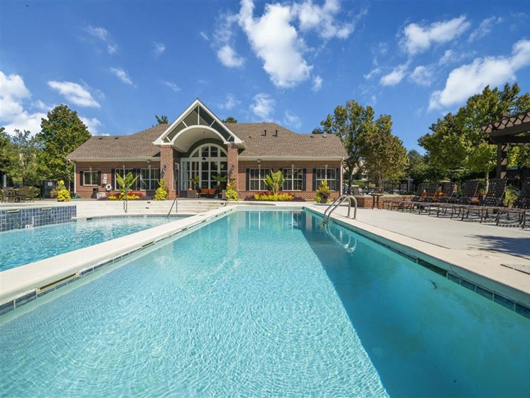 Revitalizing Resort Style Swimming Pool with Relaxation Space and Seating Area at Estates at Crossroads, Duluth, GA 30096