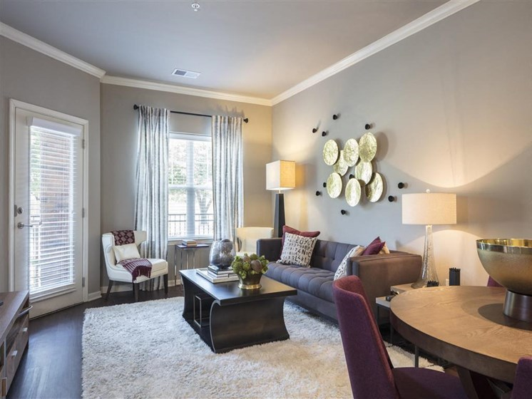 Spacious Open Floorplans with Wood Plank Flooring, 9 Foot Ceilings with Luxury Trim and Finishes Make You Feel Right at Home at Greenwood Reserve Apartments, Lenexa, KS 66215