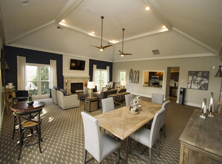 Entertaining Space for Resident Use in the Large spacious and newly renovated Clubhouse at Hampton Woods Apartments, Shawnee, KS 66217