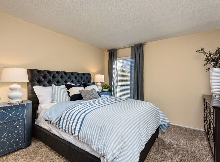 Master Bedroom Feels Large and Spacious and Large Walk-In Closets at Hampton Woods Apartments, Shawnee, KS 66217