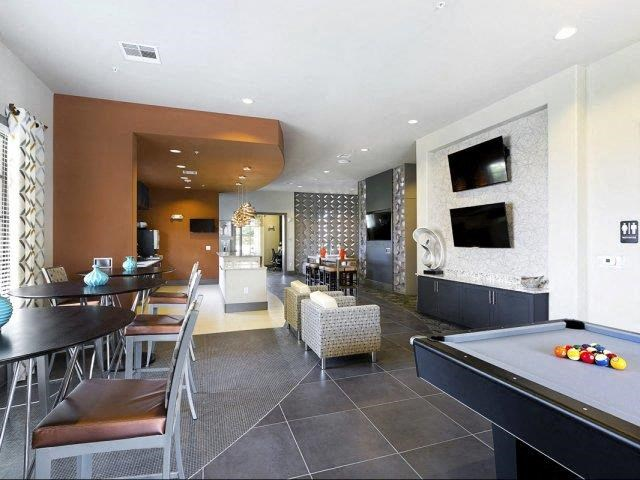 Social Clubroom with Entertaining Space and Billiards Lounge at Lone Oak Apartments, Round Rock, TX 78665