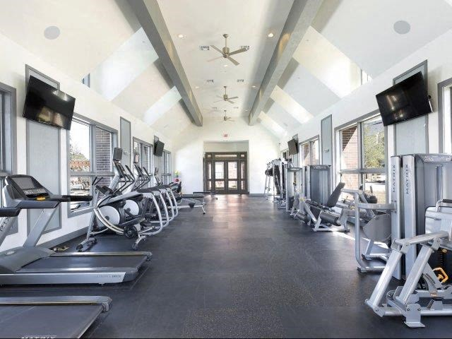 24 Hour Extensive Workout Facilities including TVs, Cardio and Weight Training at Lone Oak Apartments, Round Rock, TX 78665