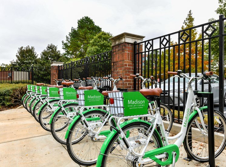 Utilize the Bike Share to Enjoy Our Convenient Access to both Shelby Farms Green Line and Wolf River Trails at Madison Shelby Farms Apartments, Memphis, TN 38120