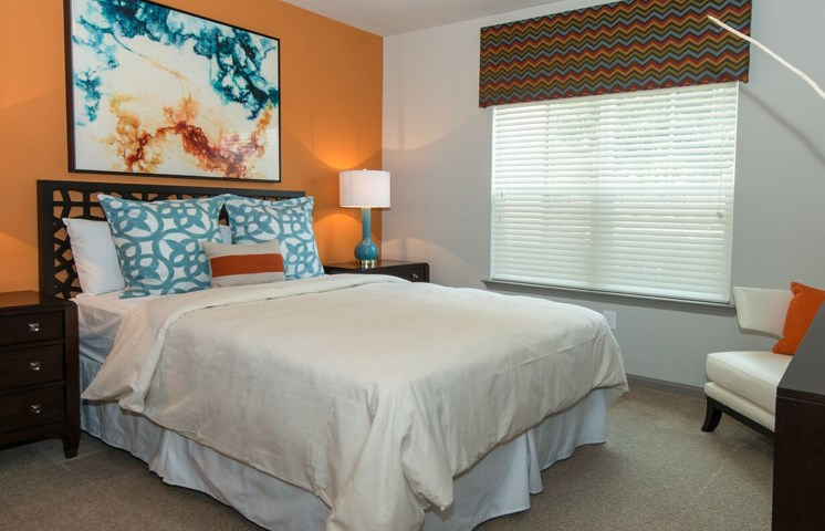 Master Bedroom Feels Large and Spacious with Plenty of Room for Furniture and Large Walk-In Closets at Moretti at Vulcan Park Apartment Homes, Homewood, AL 35209