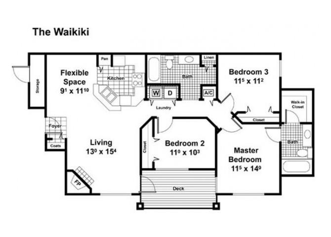 The Waikiki Floor Plan 11