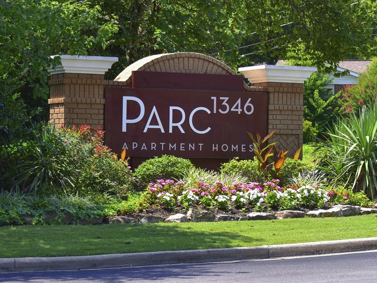 Entrance sign at Parc 1346 in Chattanooga, TN 37421