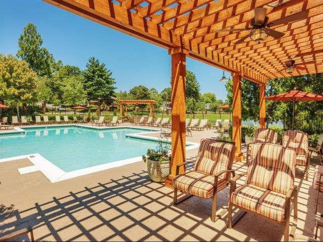 Revitalizing Pool with Relaxation Space and Seating Area at Parc 1346 Apartments, Chattanooga, TN 37421