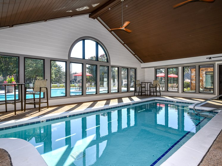 Enjoy Swimming Year Round Indoor Heated Pool at Pointe Royal Townhome Apartments, Overland Park, KS 66213