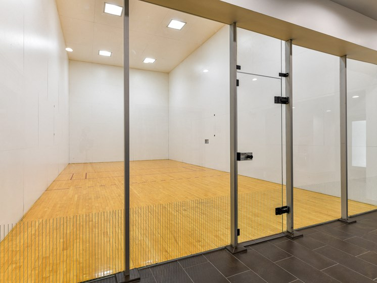 Enjoy an Invigorating Game of Racquetball in our Indoor Racquetball Courts at Pointe Royal Townhome Apartments, Overland Park, KS 66213