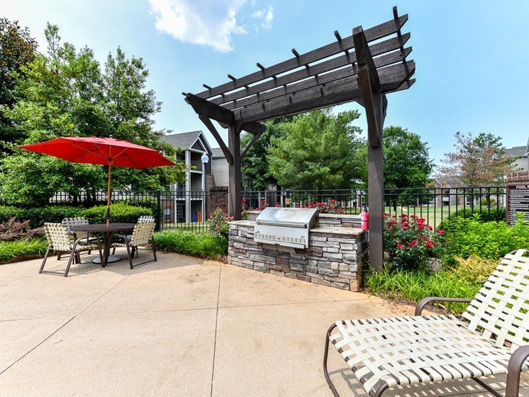Picnic Area with Grills at Polos at Hudson Corners, Greer, South Carolina