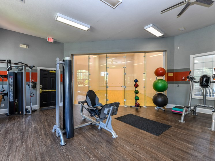 Fitness Center With Modern Equipment at Polos at Hudson Corners, Greer, South Carolina
