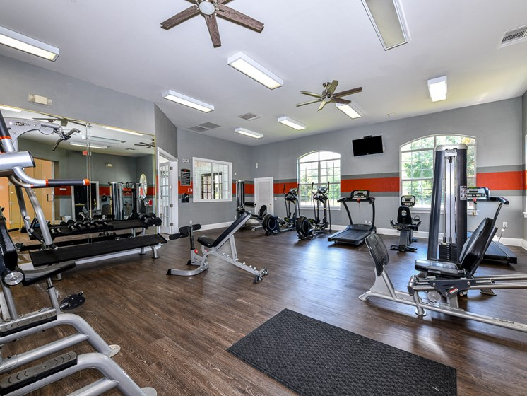 Fitness Center With Updated Equipment at Polos at Hudson Corners, South Carolina