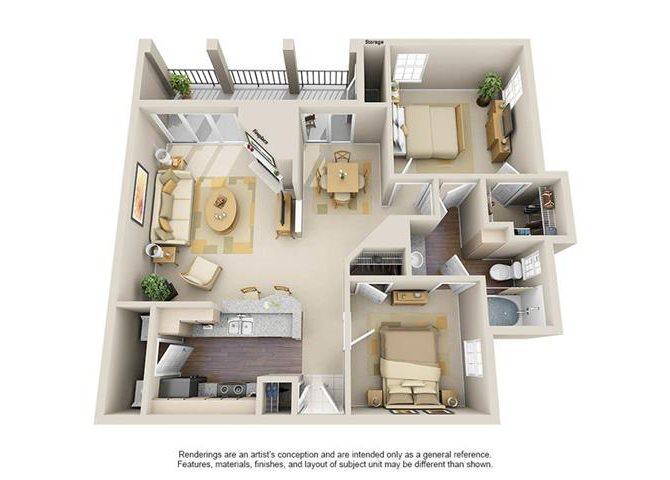 The Berkley Floor Plan 4