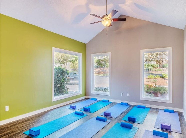 Health and Fitness Club including Yoga Studio with Mats, Exercise Balls, TV and more at Rosemont Apartments, Roswell, GA 30076