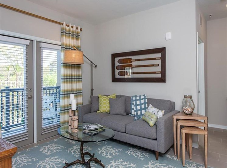 Spacious Living Room With Private Balcony at Spyglass Seaside, Charleston, SC, 29412