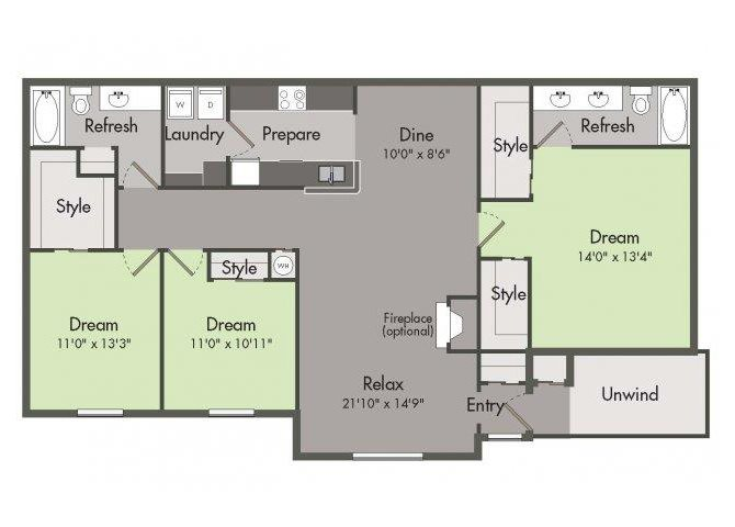 THE LIVINGSTON Floor Plan 4