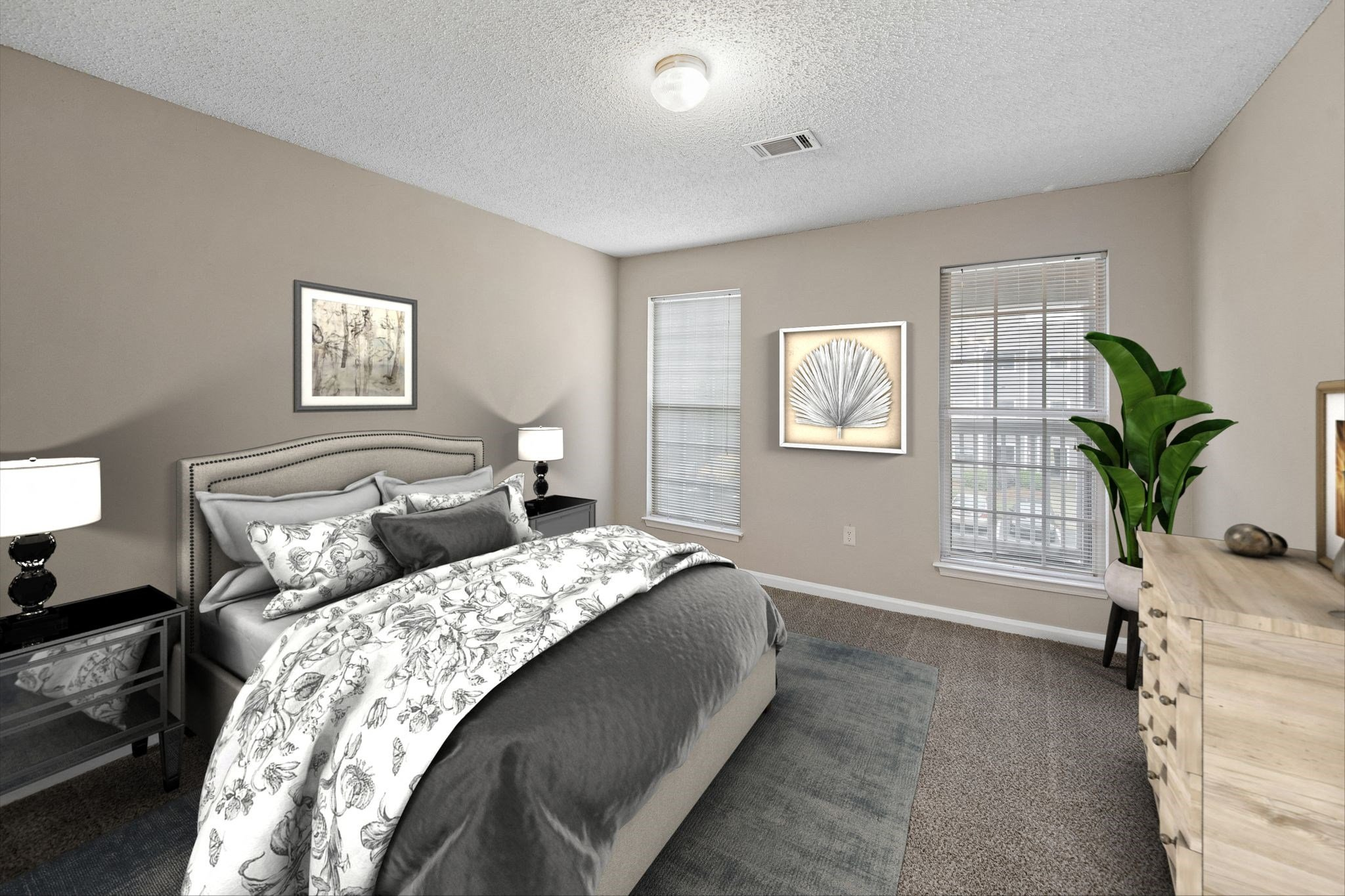 Spacious Bedroom at Station Heights Apartments in Alpharetta, GA