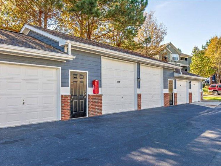 Detached Garages and Storage Units at Sugarloaf Crossing Apartments, Lawrenceville, GA 30046