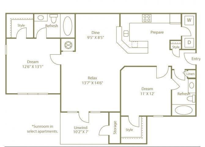 THE CHATTAHOOCHEE Floor Plan 4