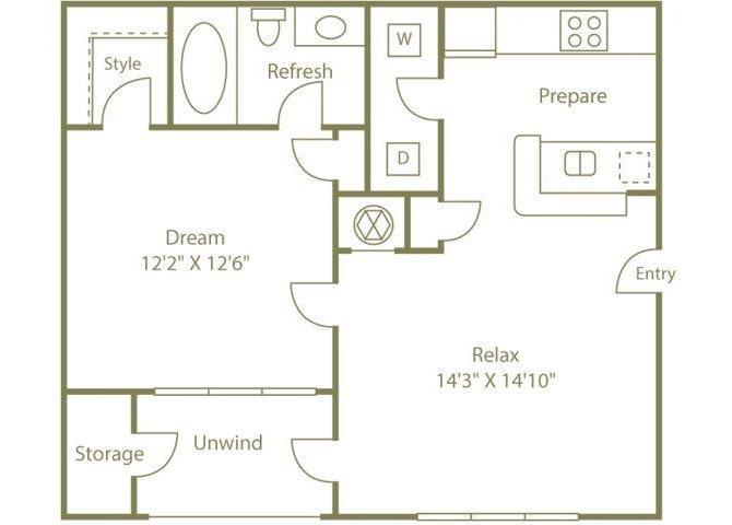 THE HIAWASSEE Floor Plan 1