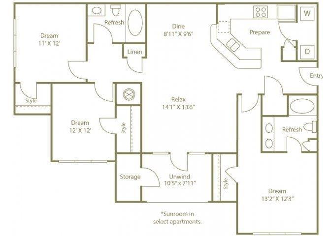 THE OGEECHEE Floor Plan 5