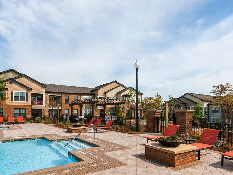 Extensive Resort Inspired Pool Deck at Tapestry at Hollingsworth Park, Greenville, 29607