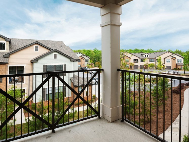 Private Apartment Balcony at Tapestry at Hollingsworth Park, Greenville, 29607