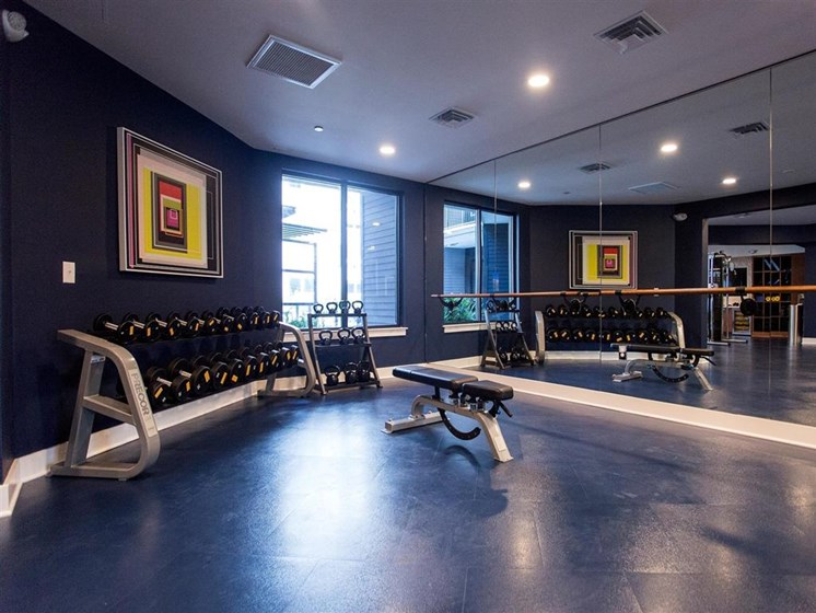 Fitness Studio at The Dartmouth North Hills Apartments, Raleigh